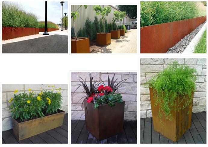 Jardineras de acero corten jardineras y papeleras - Tipos de jardineras ...
