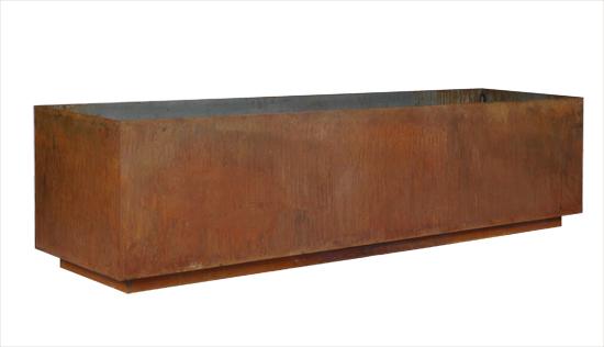 Jardineras de acero corten rectangulares jardineras y for Jardineras acero corten