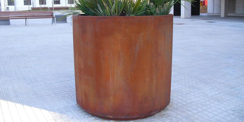 Jardineras de acero corten redondas jardineras y papeleras for Jardineras acero corten