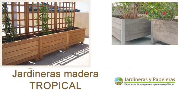 Jardineras de madera natural jardineras y papeleras for Jardinera de madera vertical