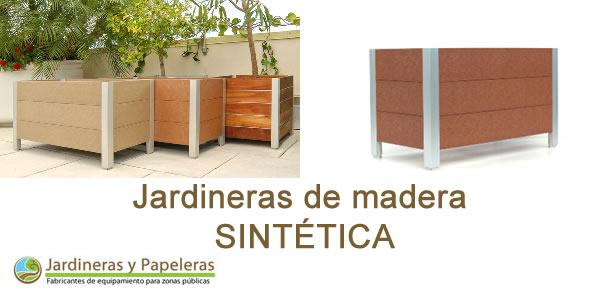 Jardineras de madera natural jardineras y papeleras - Jardinera de madera ...