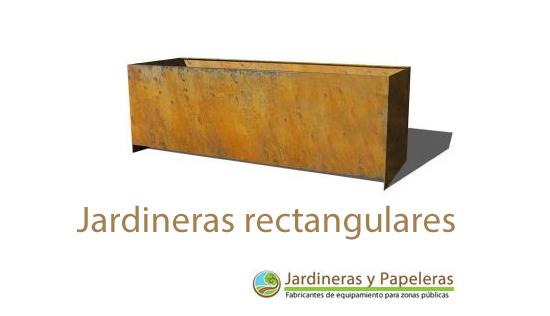 Jardineras de acero corten rectangulares jardineras y - Maceteros rectangulares grandes ...
