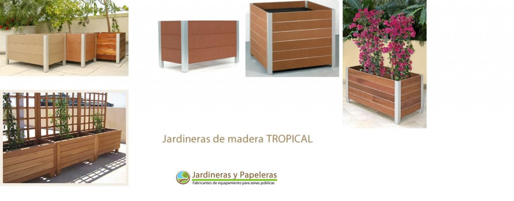 Jardineras de madera para exterior plantar en jardineras - Maceteros rectangulares grandes ...