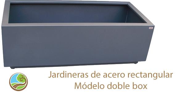 Slider Jardineras lacadas rectangulares